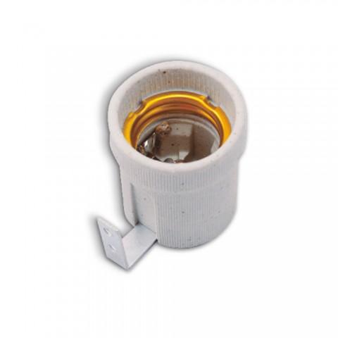 Oprawka ceramiczna E27 z mocowaniem bocznym