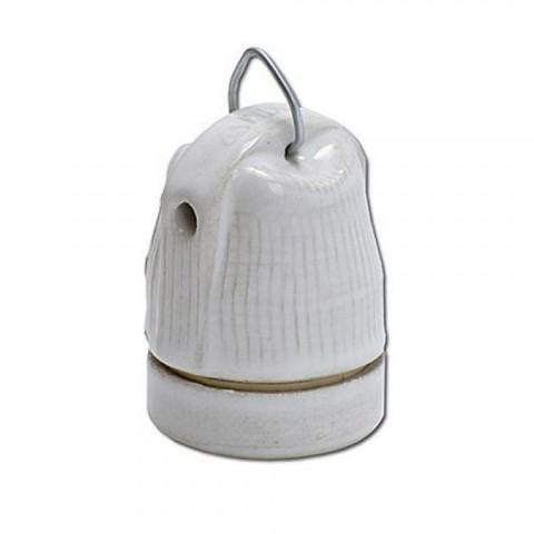 Oprawka ceramiczna E27 z uchwytem do powieszenia