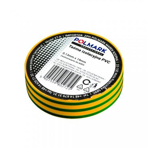 Taśma elektroizolacyjna mała 10m żółto-zielona