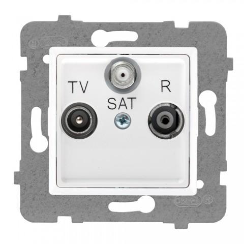 Gniazdo antenowe R-TV-SAT przelotowe