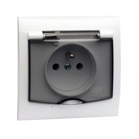 Gniazdo bryzgoszczelne IP44 (klapka dymna)